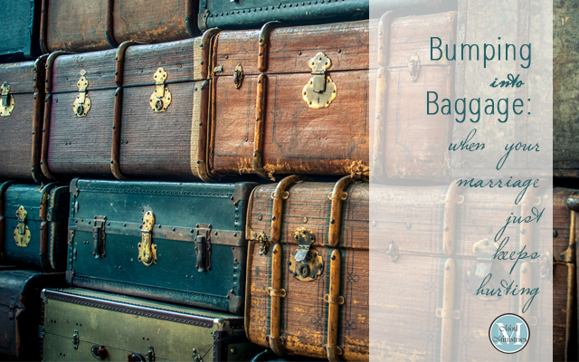bumping into baggage